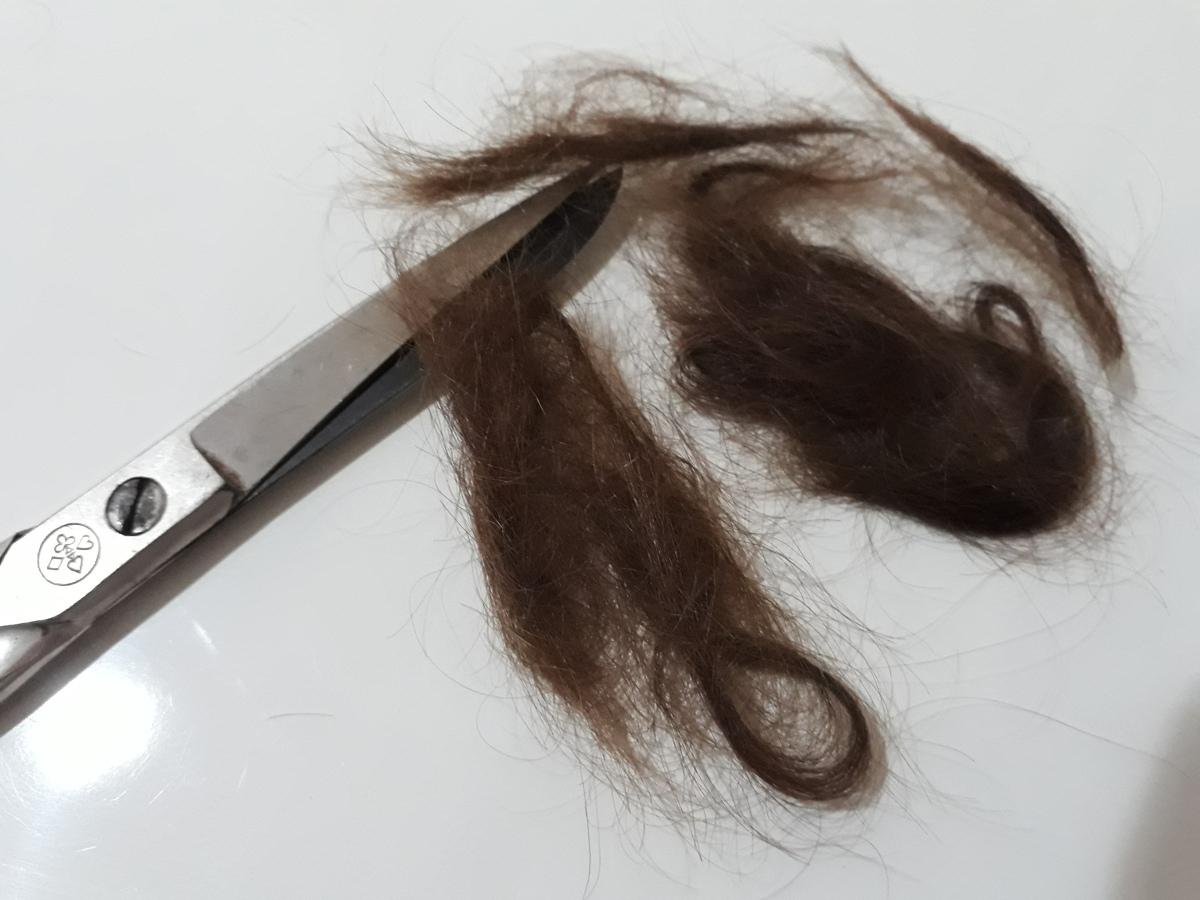 Os cabelos da menina